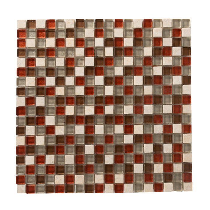 General - Bathroom & Kitchen Wall Mosaic Tiles - Bright & Beautiful Autumn - 30 x 30cm - Pack Of 10