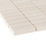 Bathroom & Kitchen Wall Mosaic Tiles - Limestone Honed - 30 x 30cm - Pack Of 10