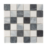 General - Bathroom & Kitchen Wall Mosaic Tiles - Natural & Diesel - 30 x 30cm - Pack Of 10