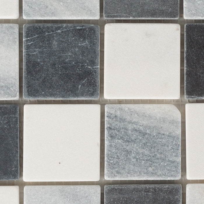 Bathroom & Kitchen Wall Mosaic Tiles - White, Grey, Slate - 30 x 30cm - Pack Of 11