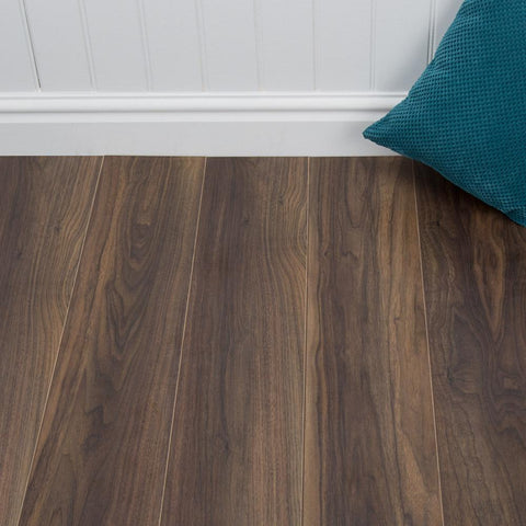 Old Walnut Effect Grovewood Laminate Flooring - 12mm - 1.48m2