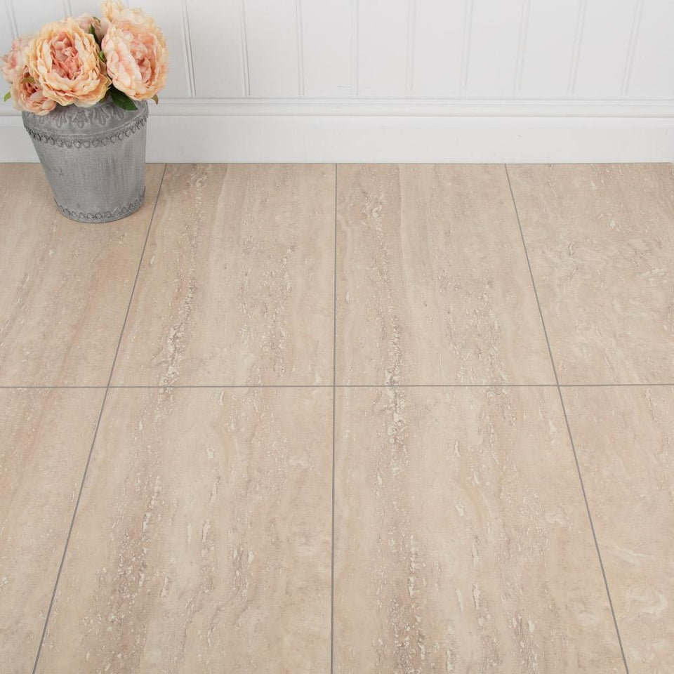 Laminate Flooring - Travertine Effect