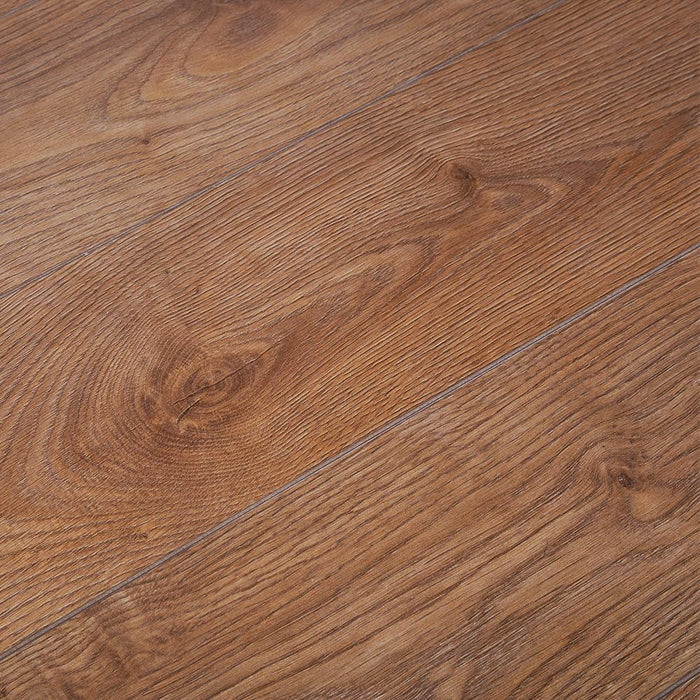 Riviera Oak V-Groove Laminate Flooring - AC4 - 12mm - 1.48m2