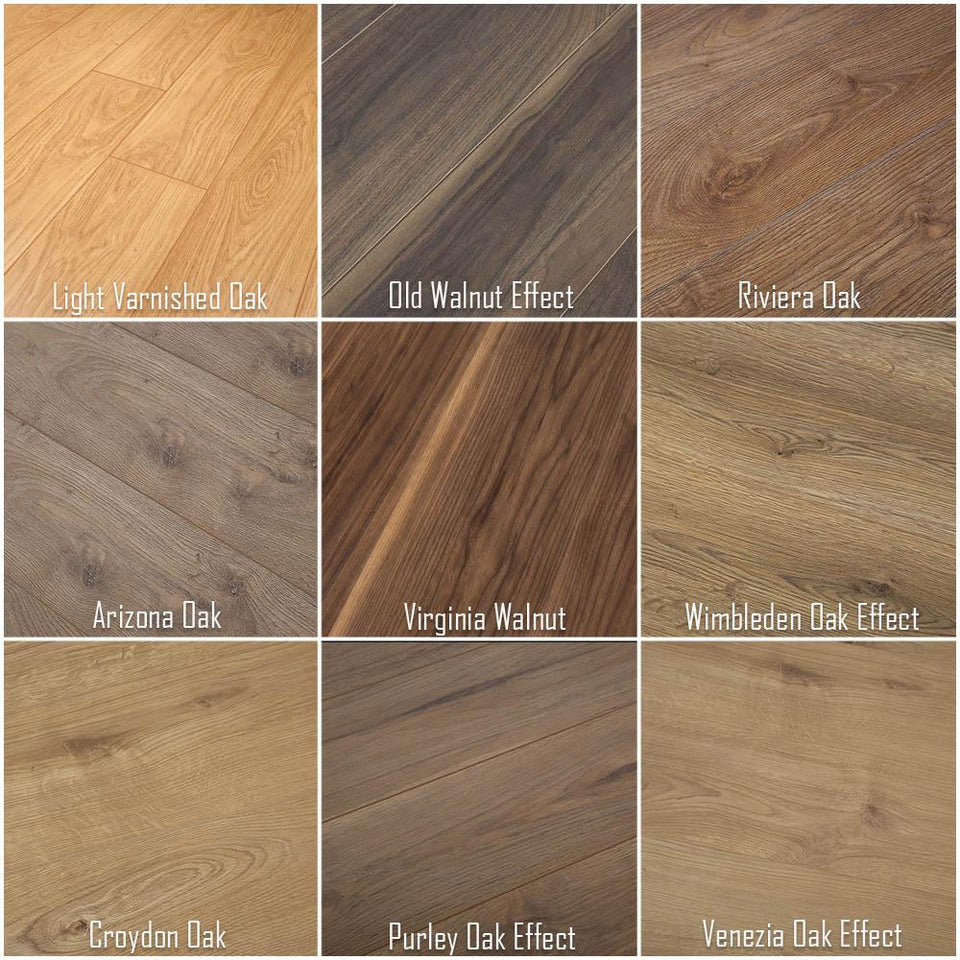 12mm - Bevelled - Grovewood Laminate Flooring - Old Walnut Effect - 1.48m2
