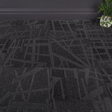 Paste Up Tessellate Carpet Tiles Black - 3.76m2