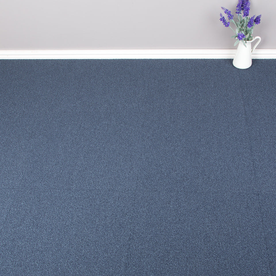 Carpet Tiles - Solid Pattern Blue 4.60m2