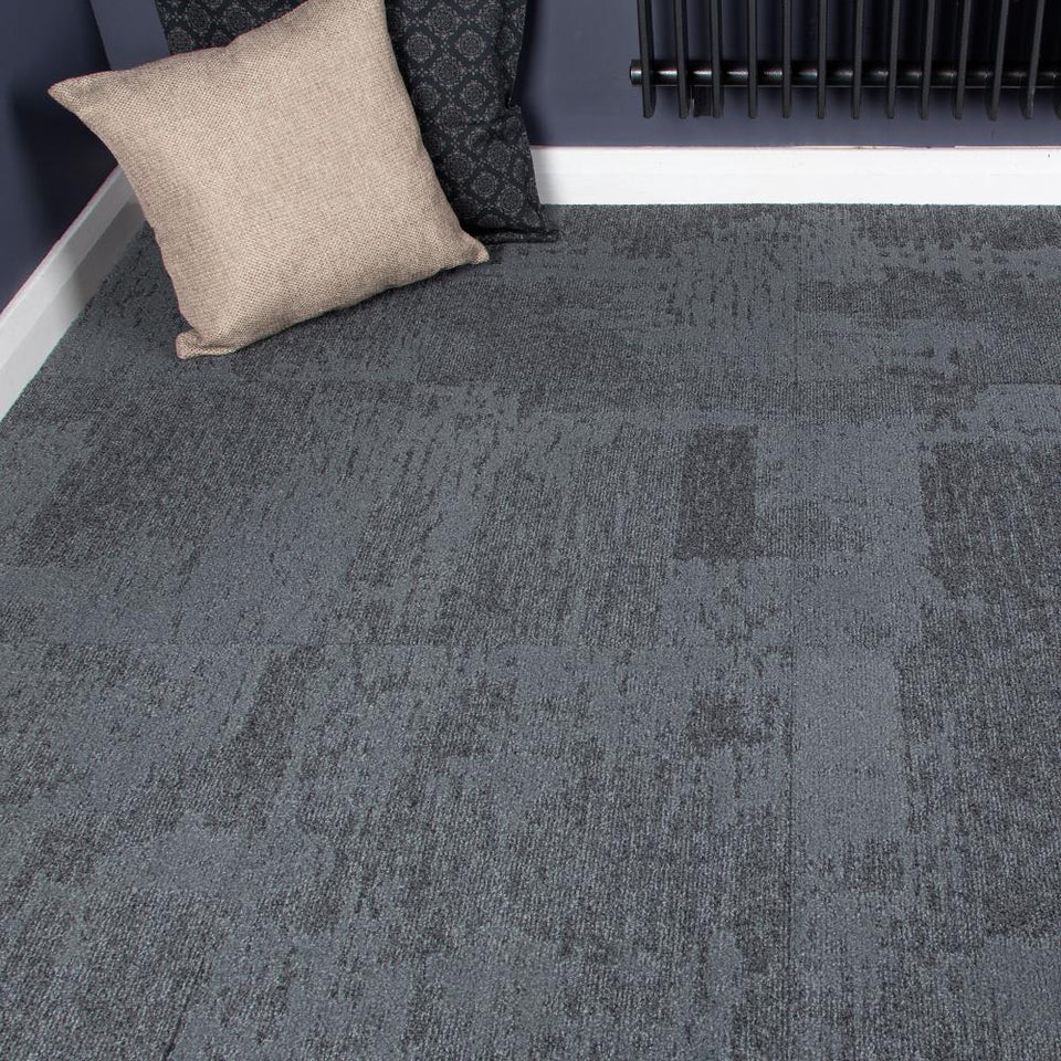 Carpet Tiles - Quality Office Carpet Tiles - Dark Grey - 50 x 50cm - 3.76m2