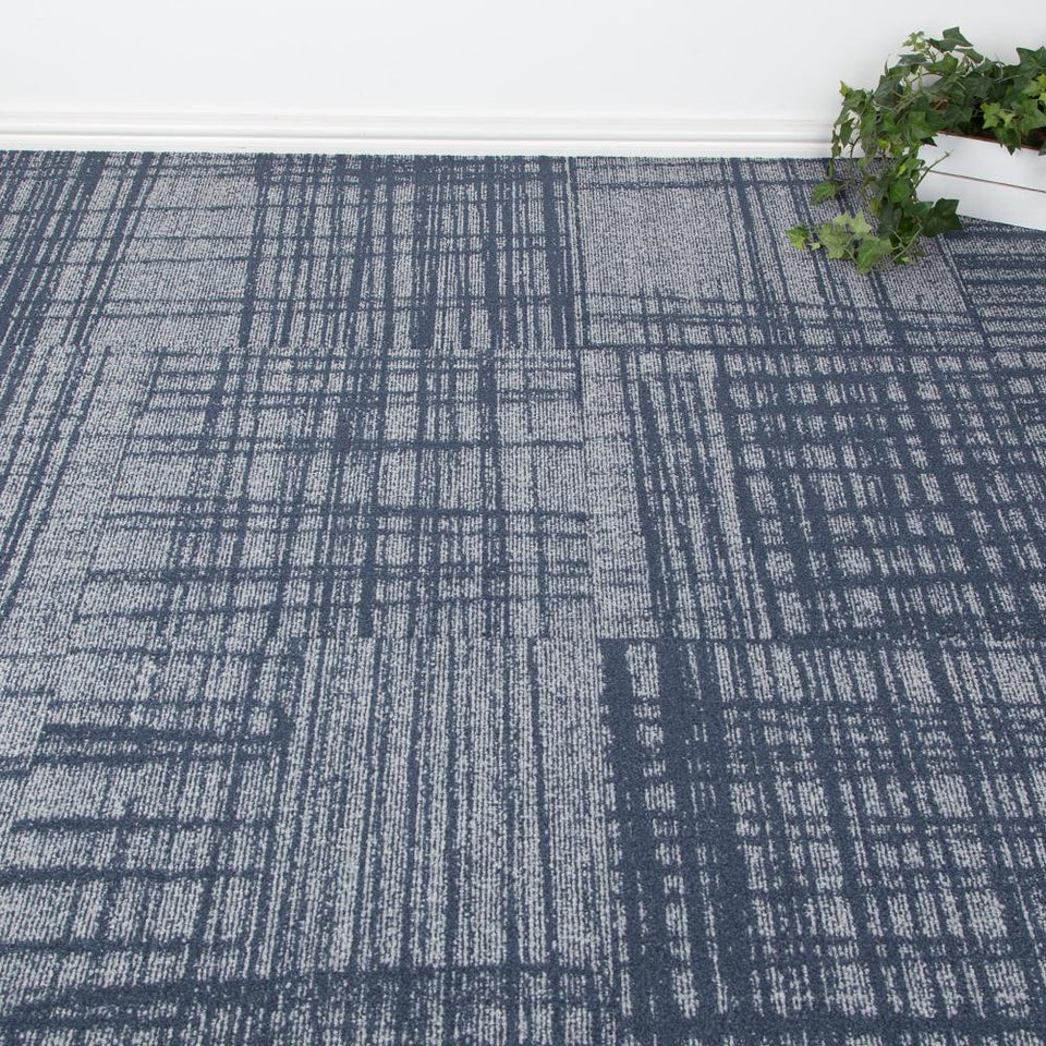 Carpet Tiles - Under Design Navy3.76m2