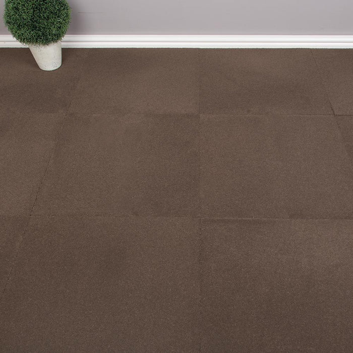 Carpet Tiles - Solid Pattern Brown 4.18m2