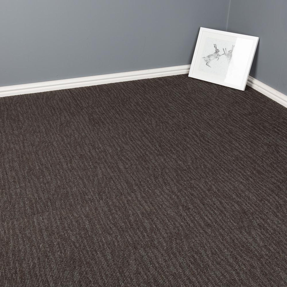 Carpet Tiles - Quality Office Carpet Tiles - Dark Grey - 50 x 50cm - 5m2