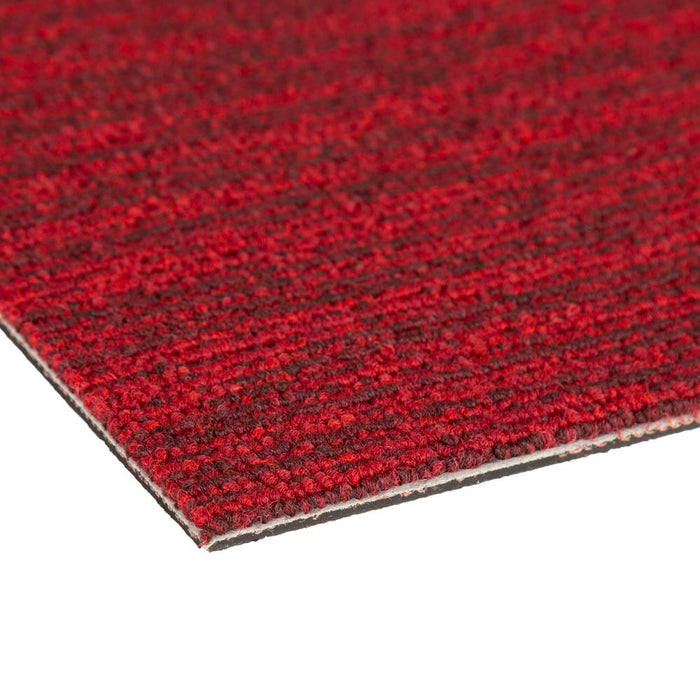 Quality Office Carpet Tiles - Red - 50 x 50cm - m2