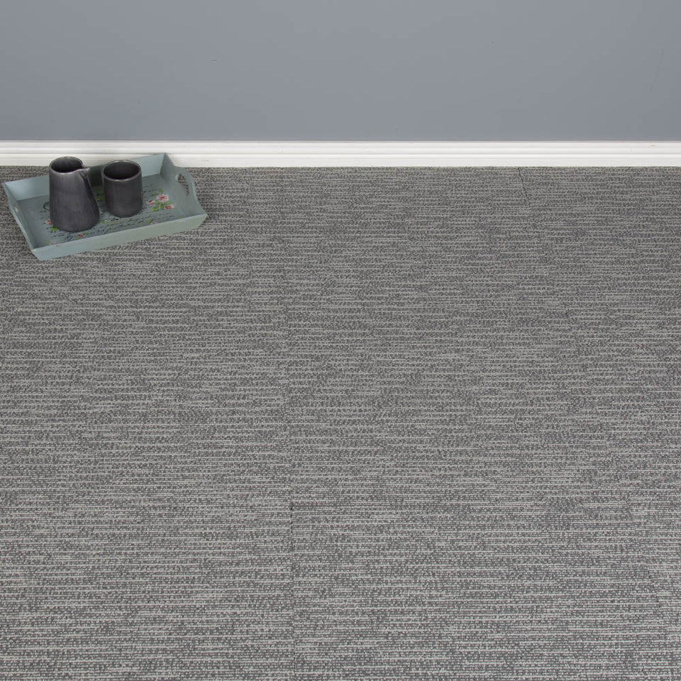 Carpet Tiles - Quality Office Carpet Tiles - Light Grey - 50 x 50cm - 4.5m2