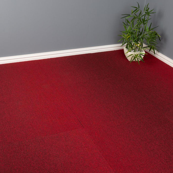 Carpet Tiles - Quality Office Carpet Tiles - Red - 50 x 50cm - 5m2