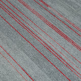 Quality Office Carpet Tiles - Grey/ Red Stripes - 50 x 50cm - 5m2