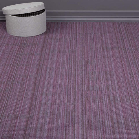 Tessera Quality Office Carpet Tiles Light Pattern Purple 4m2