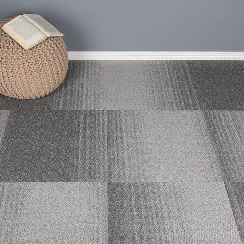 Cometlines Carpet Tiles - Titan Fade Grey - 1m2