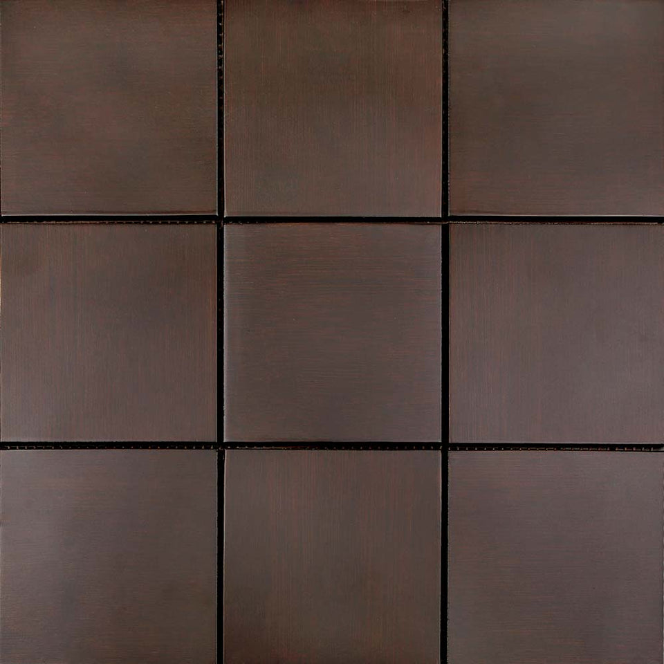Bathroom Bamboo Square Mosaic Wall Tile-Brown- 5 Sheets Per Box-0.45m2