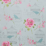 Wallpaper - Designer Floral Bird Cage Alice Wallpaper