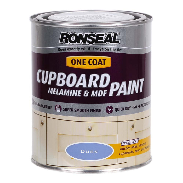 Paint | Cheap Ronseal One Coat Cupboard & MDF Blue Paint