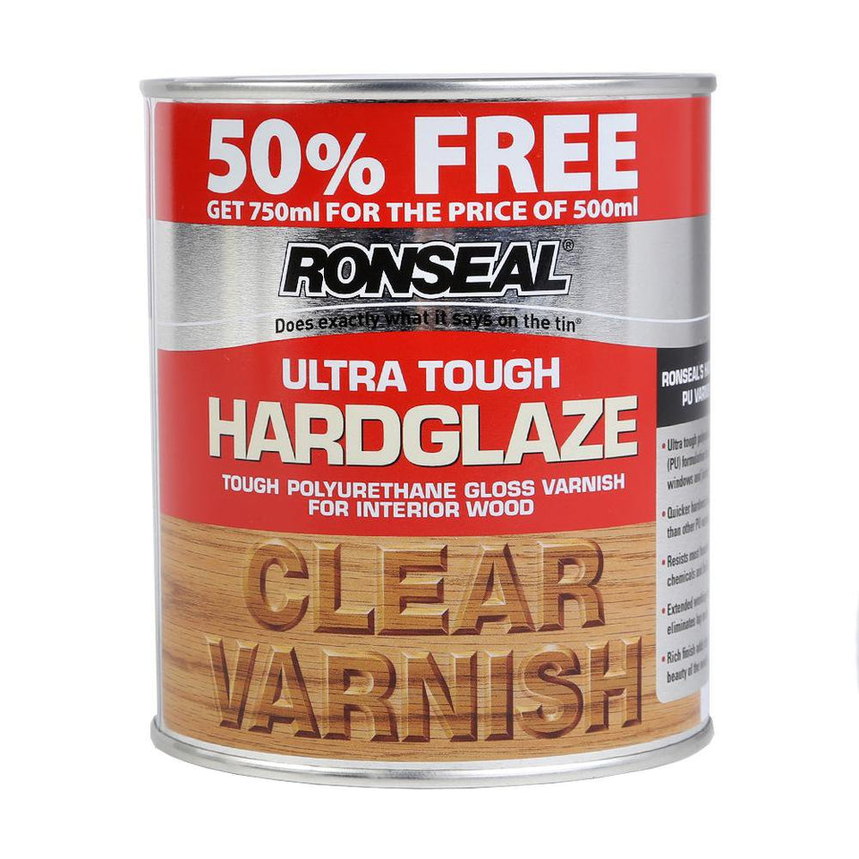 Ronseal Ultra Tough Interior Wood Varnish Clear 750ml