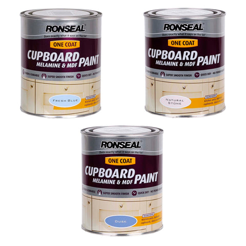 Ronseal One-Coat Cupboard MDF & Melamine Paint - Various Colours