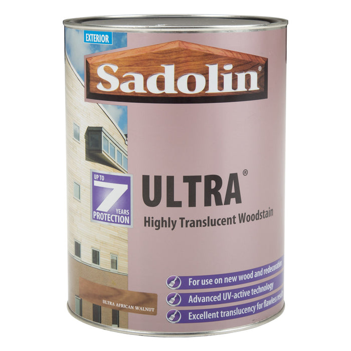 Paint & Varnish - Sadolin Exterior Translucent Woodstain Ultra African Walnut Satin 5L