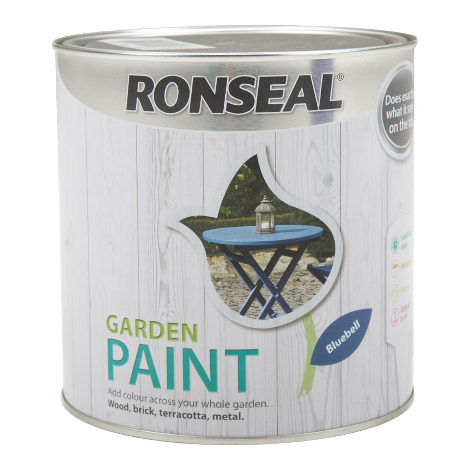 Paint - Ronseal Garden Paint - Bluebell 2.5L