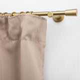 Metal Curtain Pole, Cone Finials, Hooks & Clips - Brass - 200cm x 12mm