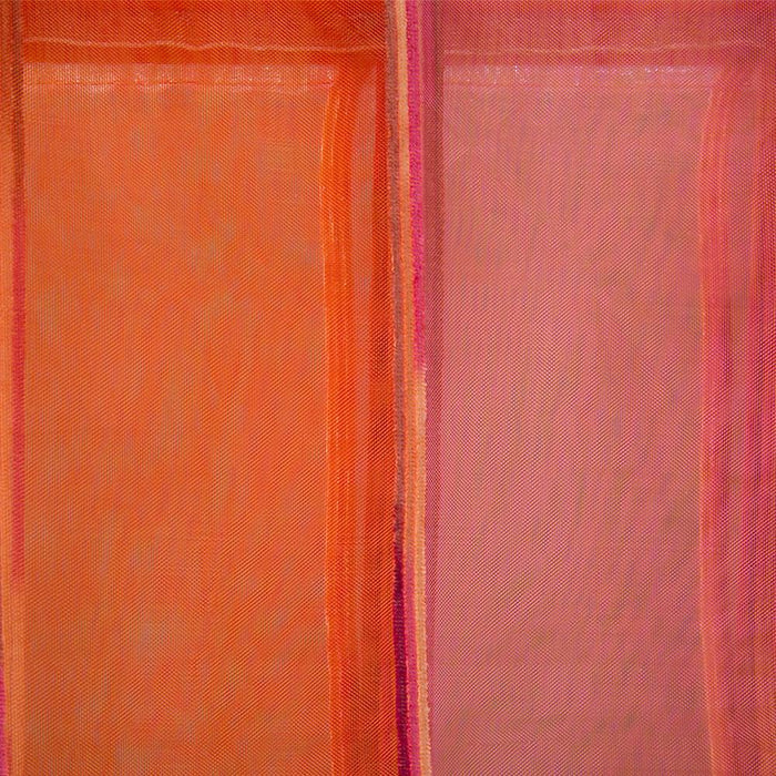 Fabric Roman Shade Blind Stripe Orange/Pink - 120x160cm