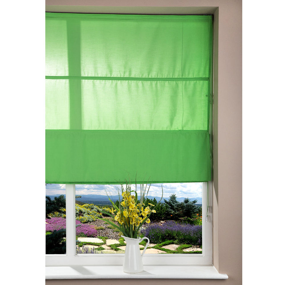 Window Blinds - Fabric Corded Blind Green - 80 x 160cm