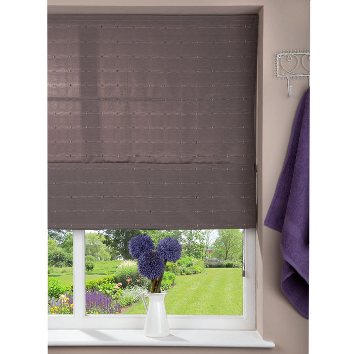 Window Blinds - Fabric Blind Brown - 120 x 160cm