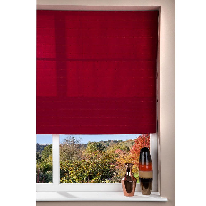 Window Blinds - Fabric Blind Red - 80 x 160cm