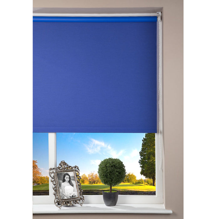 Window Blinds - Roller Blind Blackout Blue 142cm x 180cm