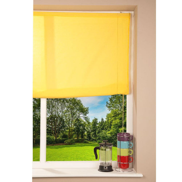 Window Blinds - Swish Easy-Fit Roll-Up Blind-Yellow- 180 x 175cm