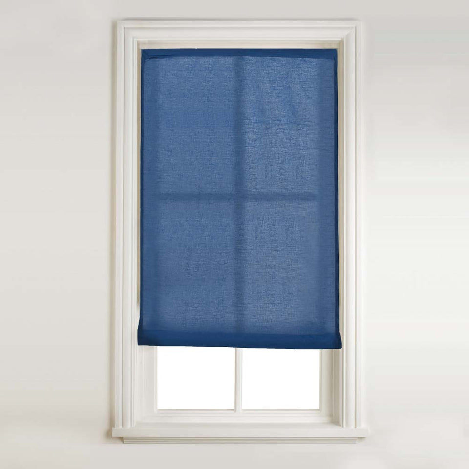 Window Blinds - Swish Roll-Up Blind Navy Blue 90 x 175cm