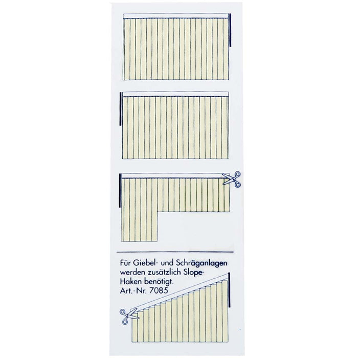 Complete Vertical Blind - Yellow - 100cm x 260cm