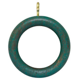 4 x Swish Wooden Curtain Pole Rings - Green - 30mm