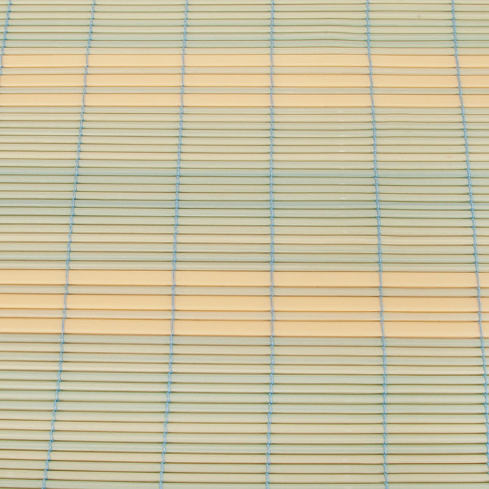 Swish PVC Roll Up Bamboo Effect Blind Blue/Cream - 120 x 160cm
