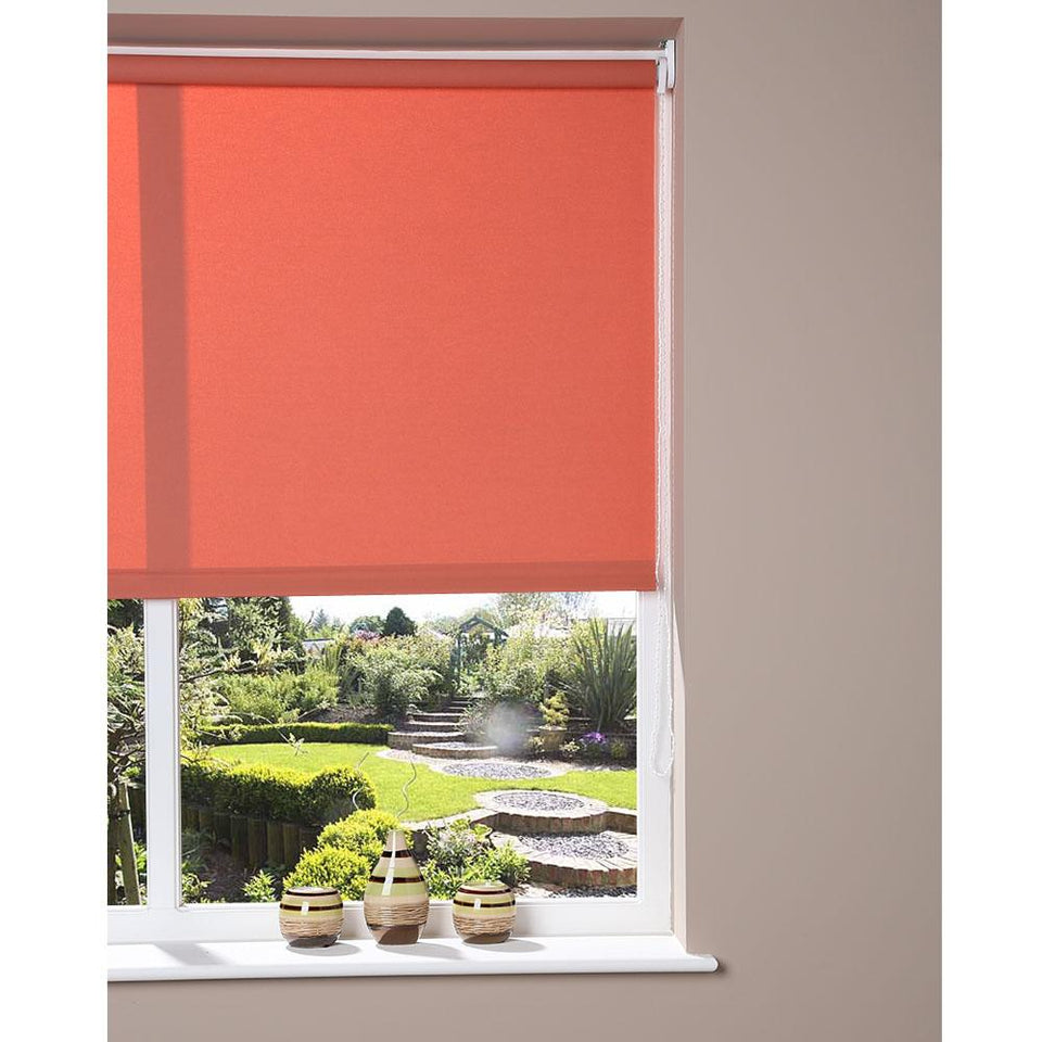 Window Blinds - Roller Blind - Peach 142 x 175cm