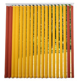 Window Blinds - Vertical Blind Yellow/Terracotta 300 x 260cm