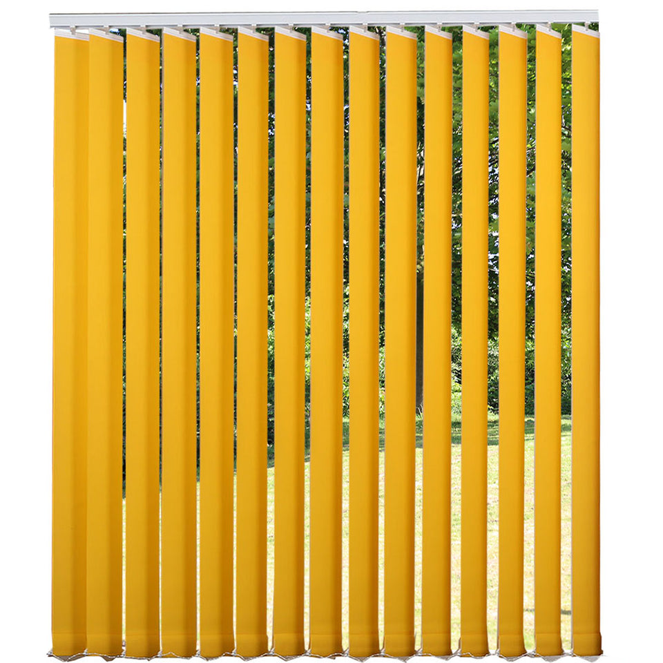 Window Blinds - Complete Vertical Blind - Yellow - 100cm x 260cm