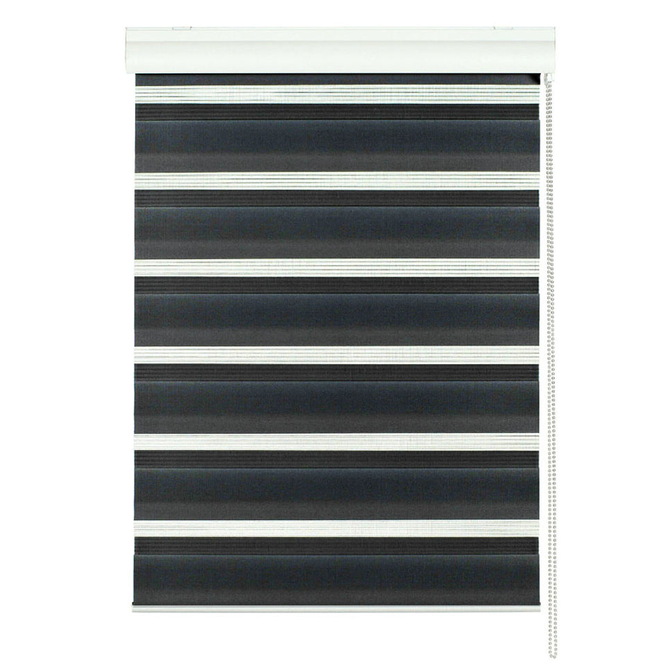 Window Blinds - Day/Night Roller Blind Black 80 x 160cm