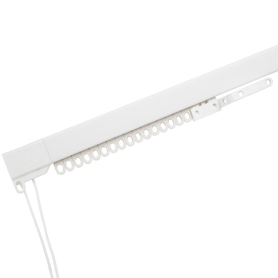 Swish Rail Express Curtain Track - Plastic - 2.4m Corded - White
