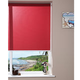 Window Blinds - Corded Roller Blind - Burgundy - 120 x 150cm