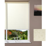 Window Blinds - Roller Blind - Pale Yellow / Sand 120x150cm
