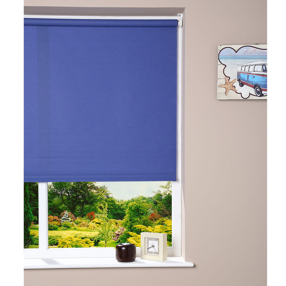 Window Blinds - Roller Blind Blue - 102cm x 160cm