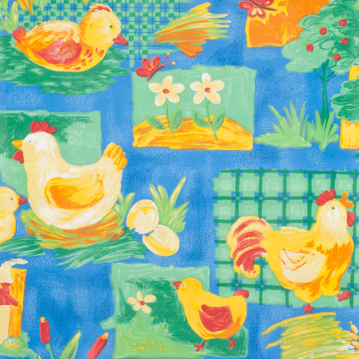 Sunflex Kitchen Roller Blind - Farm Animals - Blue - 90x160cm