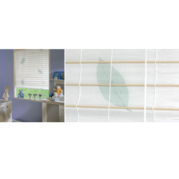 East Roll Up Roller Blind Natural Leaf 120 x 160cm