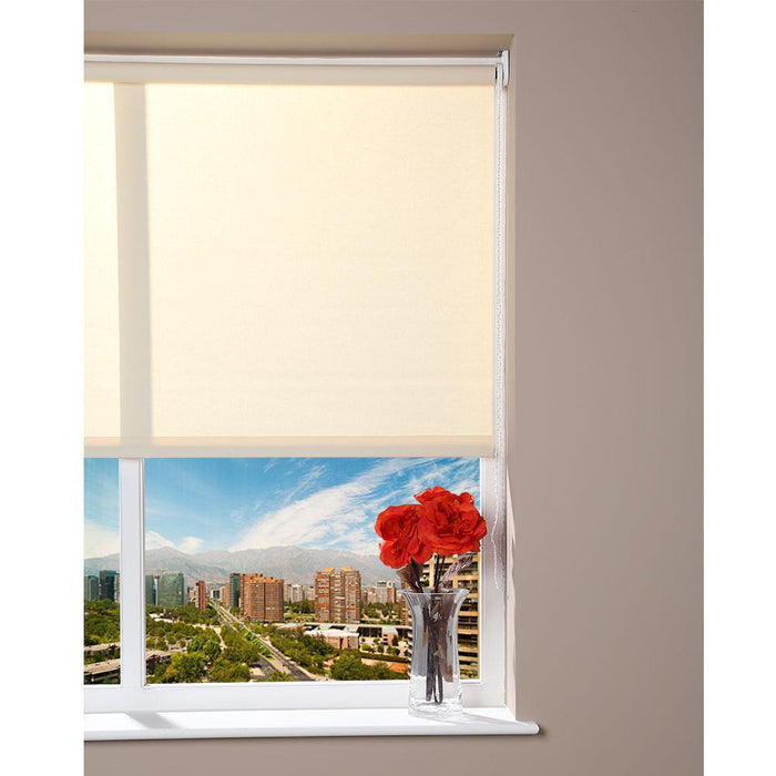Luxury Window Roller Blind - Cream - 92cm x 230cm