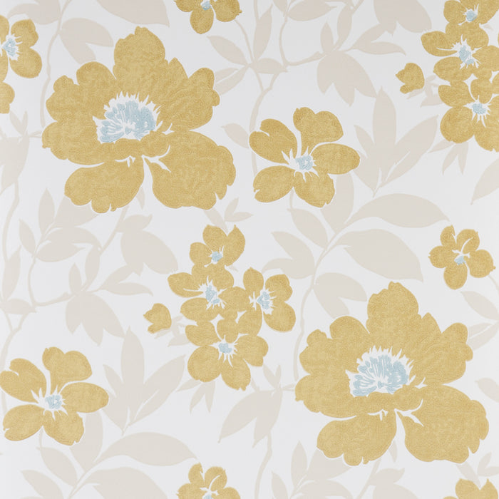 Blendworth Paper Trail Bayswater Floral White Wallpaper